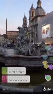 piazza navona fontana del bernini e di borromini (dietro)
